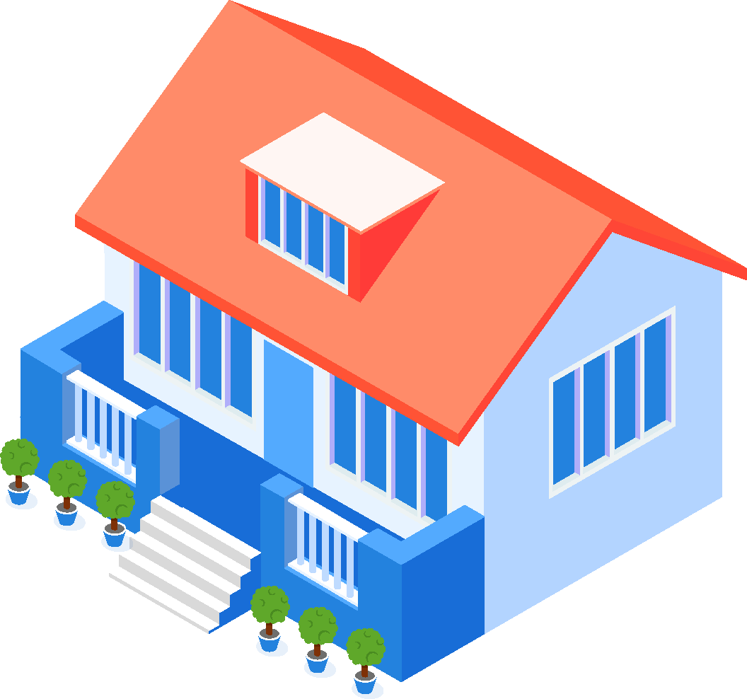 無料調査の建物のイラスト